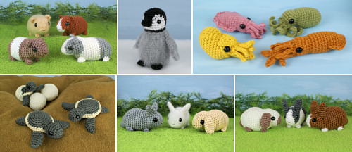 PlanetJune Baby Animals CAL crochet pattern options