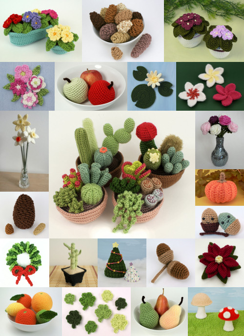 PlanetJune Plant-Along CAL crochet pattern options