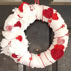 crocheted wreath by aaBrink, patterns by planetjune