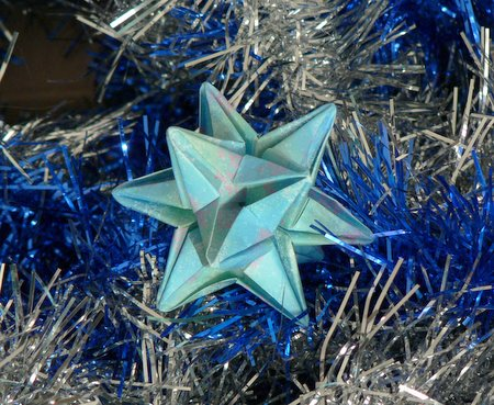 3d origami star