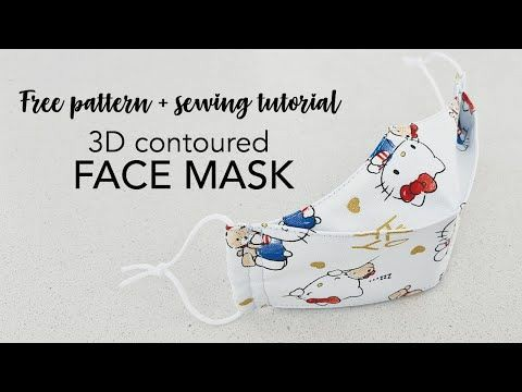 3d Contoured Face Mask tutorial from Japanese Sewing Books blog