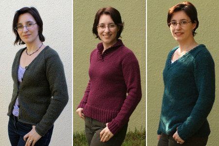 3 knit sweaters by planetjune