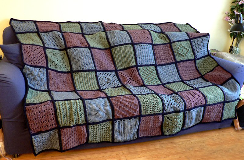 Blog Planetjune By June Gilbank Finished The 63 Squares Afghan