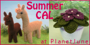 PlanetJune Summer Crochetalong: Alpacas and African Violets