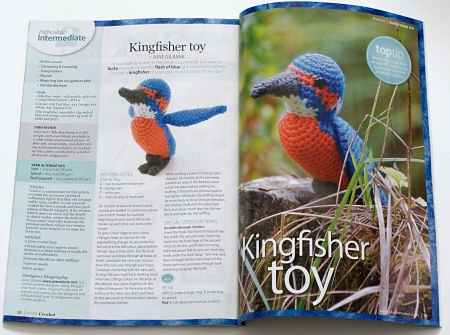inside crochet issue 10 - kingfisher by june gilbank