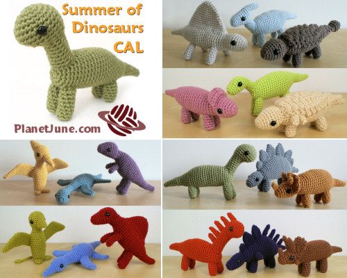 PlanetJune Summer of Dinosaurs CAL - pattern options
