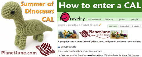 PlanetJune Summer of Dinosaurs CAL: How to Enter a CAL