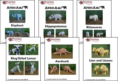 african animals amigurumi patterns by planetjune