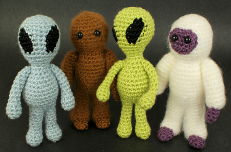 Aliens and Yeti & Bigfoot amigurumi crochet patterns by PlanetJune
