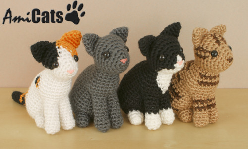 Pattern Bundle Crochet Kitty Cat Amigurumi Kitty Pattern Siamese ... | 300x500