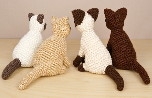AmiCats Collection 2 crochet patterns by PlanetJune: Himalayan, Persian, Siamese and Burmese amigurumi cats