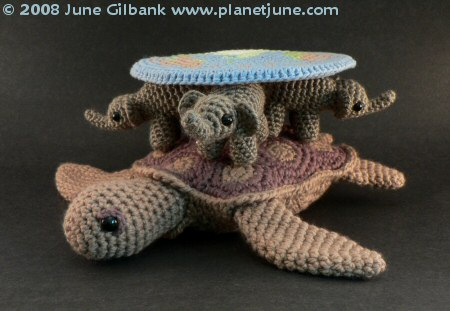 crocheted Discworld by planetjune
