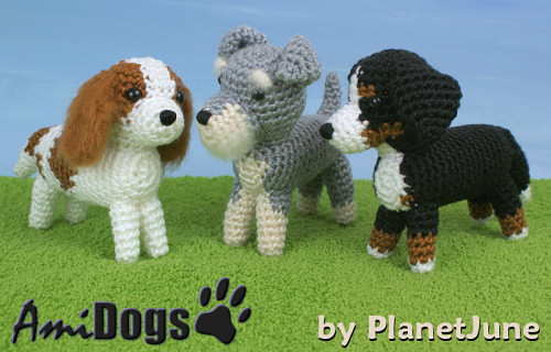 AmiDogs Set 8 crochet patterns by PlanetJune