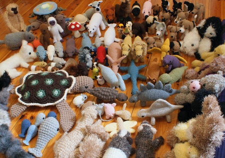 lots of amigurumi! all by planetjune