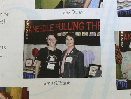 June Gilbank of PlanetJune.com with Carla Canonico, Editor-in-Chief of A Needle Pulling Thread magazine