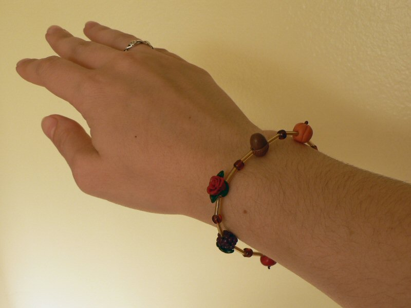 polymer clay autumn bracelet