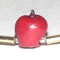 polymer clay apple bead