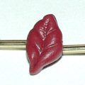 polymer clay leaf bead