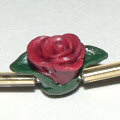 polymer clay rose bead