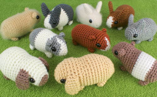 Baby Bunnies and Baby Guinea Pigs crochet patterns by PlanetJune