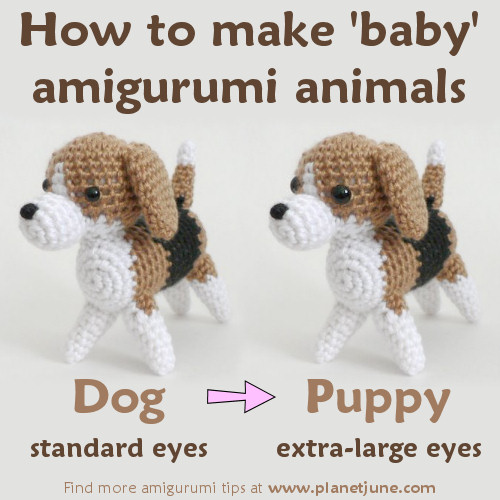 how to make 'baby' amigurumi animals, by planetjune