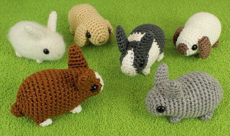 Baby Bunnies and Baby Bunnies 2 Expansion Pack crochet patterns by PlanetJune