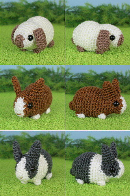Baby Bunnies 2 Expansion Pack crochet pattern by PlanetJune