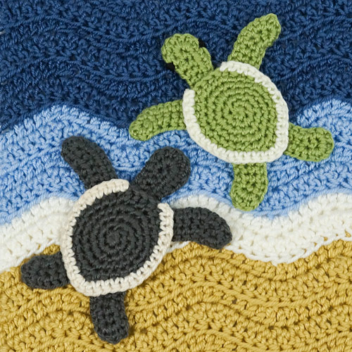 Baby Sea Turtle Applique crochet pattern by PlanetJune