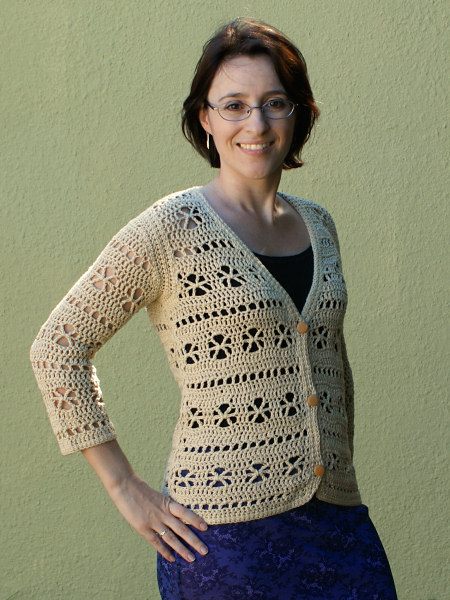 crocheted bamboo cardigan by planetjune