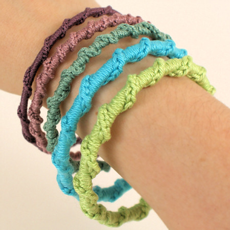 twisted chain bangle crochet pattern by planetjune