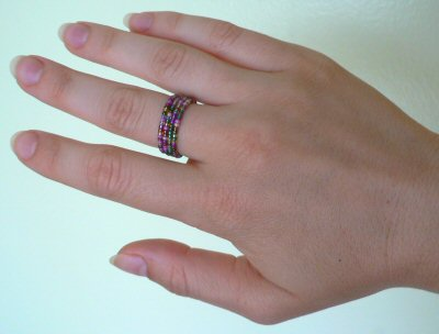 Blog – PlanetJune by June Gilbank » beaded memory wire rings