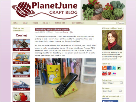 PlanetJune blog - new look