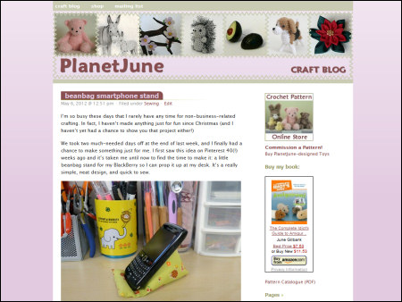 PlanetJune blog - old look