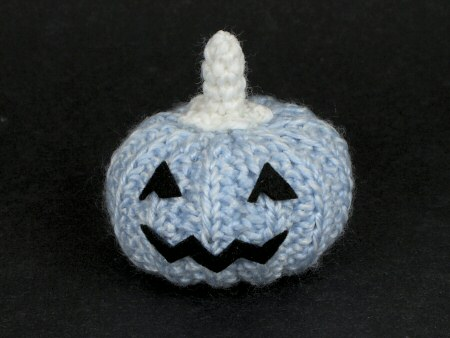 cute crocheted blue pumpkin by planetjune