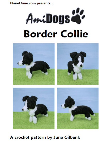 AmiDogs Border Collie amigurumi crochet pattern by PlanetJune