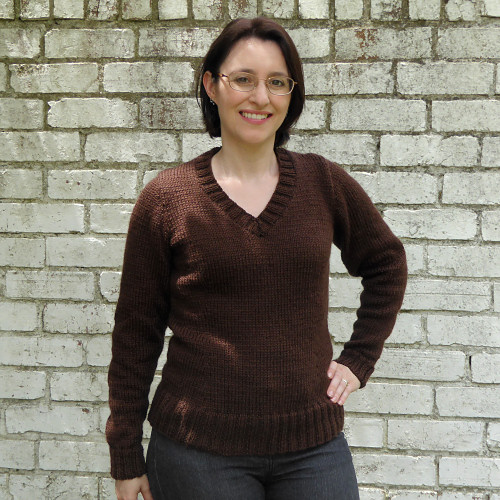 basic brown knitter pullover by planetjune