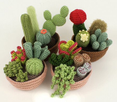 crocheted succulent and cactus collections by planetjune