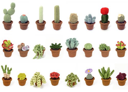 Cactus Collections 1 & 2, and Succulent Collections 1-4 crochet patterns by PlanetJune