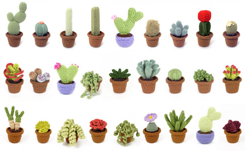 Cactus and Succulent crochet patterns by PlanetJune