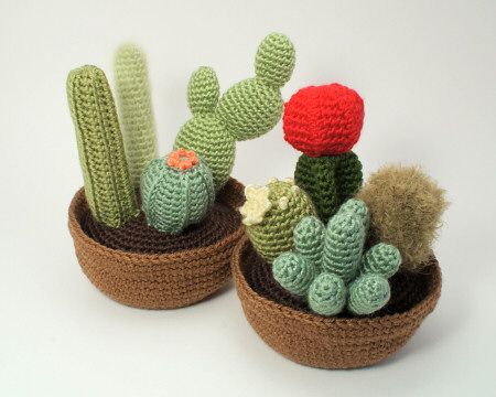 crocheted cactus collections 1 and 2 by planetjune