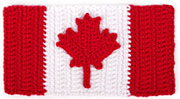 crocheted Canadian flag by PlanetJune