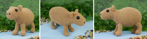 Capybara crochet pattern - exclusive to pledgers for now!