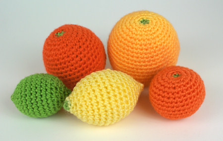 amigurumi citrus collection crochet pattern by planetjune