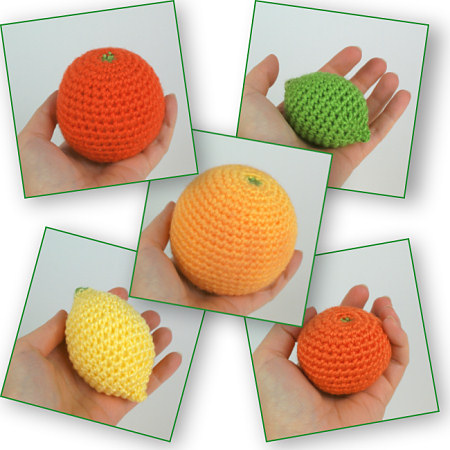 amigurumi citrus collection by planetjune