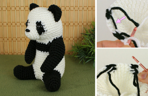 giant panda crochet pattern by planetjune