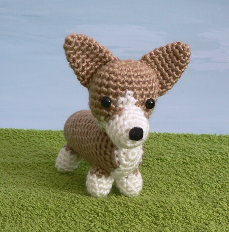 crocheted corgi by planetjune