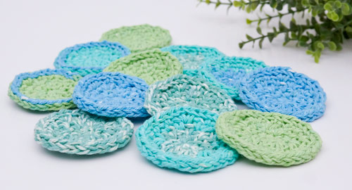 PlanetJune Accessories Eco-Friendly Cosmetic Rounds crochet pattern