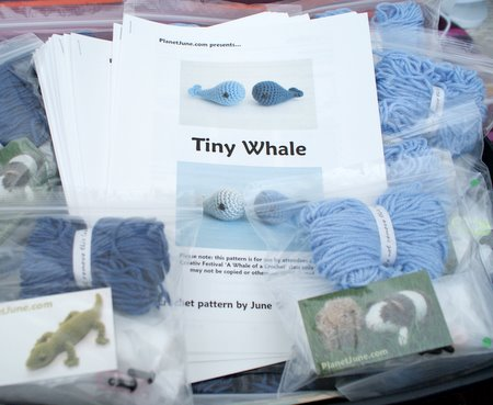 tiny whale crochet kits by planetjune