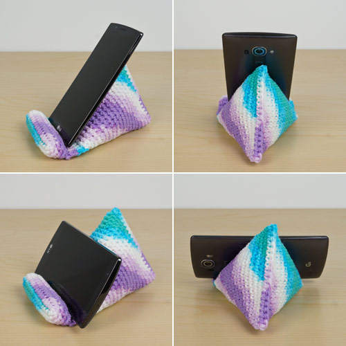 crochet phone stand by planetjune