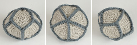 crocheted d10 shape by planetjune